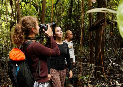 Tourists-photographing-native-species-of-the-Amazon