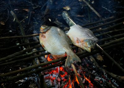 roasting-fish-in-a-bonfire-in-the-middle-of-the-Amazon-jungle
